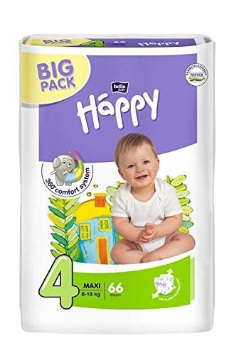Bella Happy Baby Windeln, Maxi, 8-18 kg, 66 Stück