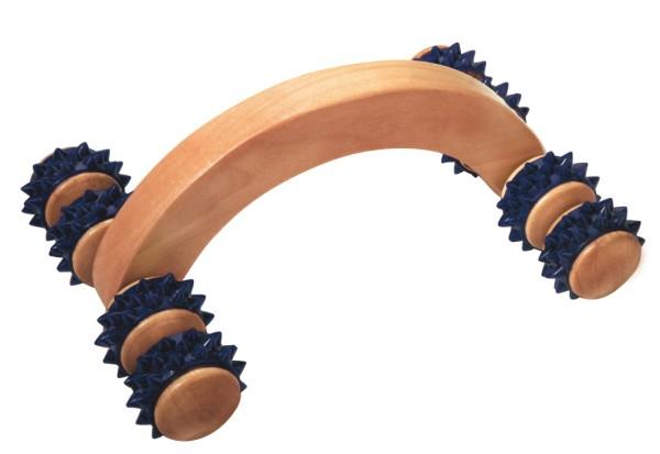 Massageroller  groß mit 8 rotierenden Noppenspitzen