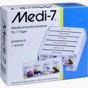 """Medikamentendosierer für 7 Tage """"Medi 7"""", weiß"""